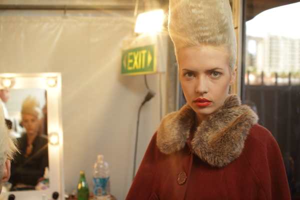 IMG_6538.JPG Backstage Bowie S/S 2011/12 Rosemount Australian Fashion Week Photo by Reef Gaha Hair by MoroccanOil