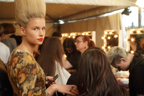 IMG_6543.JPG Backstage Bowie S/S 2011/12 Rosemount Australian Fashion Week Photo by Reef Gaha Hair by MoroccanOil
