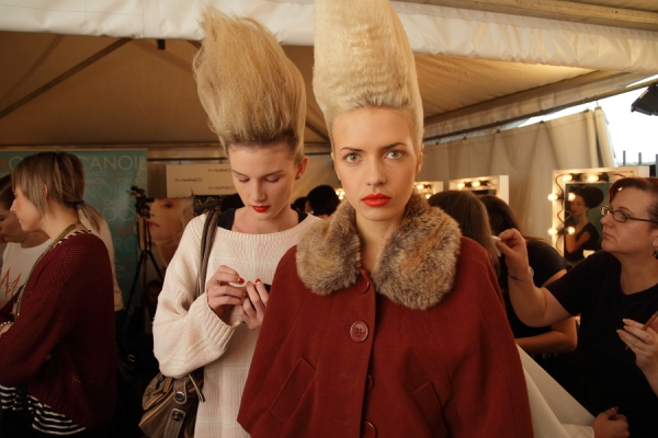 IMG_6553.JPG Backstage Bowie S/S 2011/12 Rosemount Australian Fashion Week Photo by Reef Gaha Hair by MoroccanOil