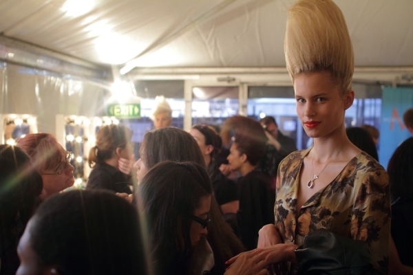 IMG_6567.JPG Backstage Bowie S/S 2011/12 Rosemount Australian Fashion Week Photo by Reef Gaha Hair by MoroccanOil