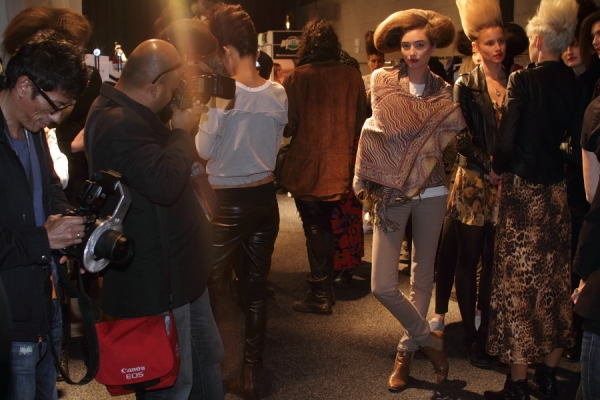 IMG_6676.JPG Backstage Bowie S/S 2011/12 Rosemount Australian Fashion Week Photo by Reef Gaha Hair by MoroccanOil